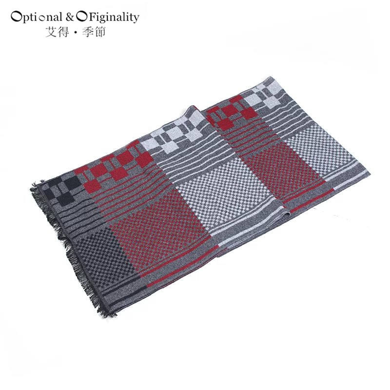 NEW designer scarf plaid scarf mens bufanda hombre sjaals dames winter 2016 lovers thermal double faced