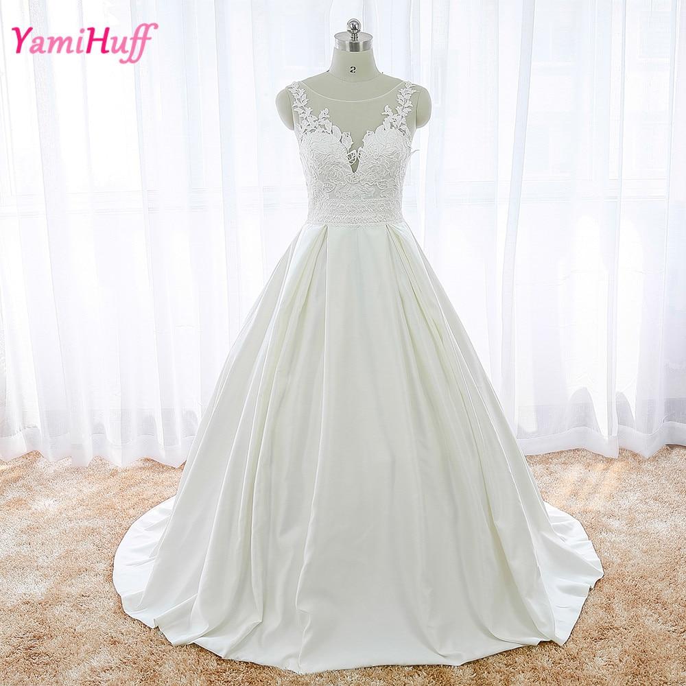Simple Elegant Lace Wedding Dresses Naf Dresses: Simple Elegant Satin Wedding Dresses Lace Backless Ball