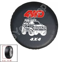 Areyourshop Sale US shipping New universal Spare Wheel Tire Tyre Soft Cover 4WD Size 15