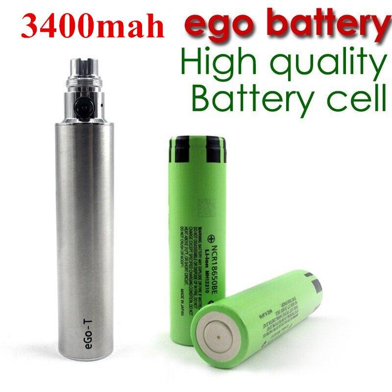 Ego recargable gran capacidad 3400 mAh voltaje Variable V 4,2-3,2 V batería para cigarrillo electrónico eGo caliente E batería de cigarrillo