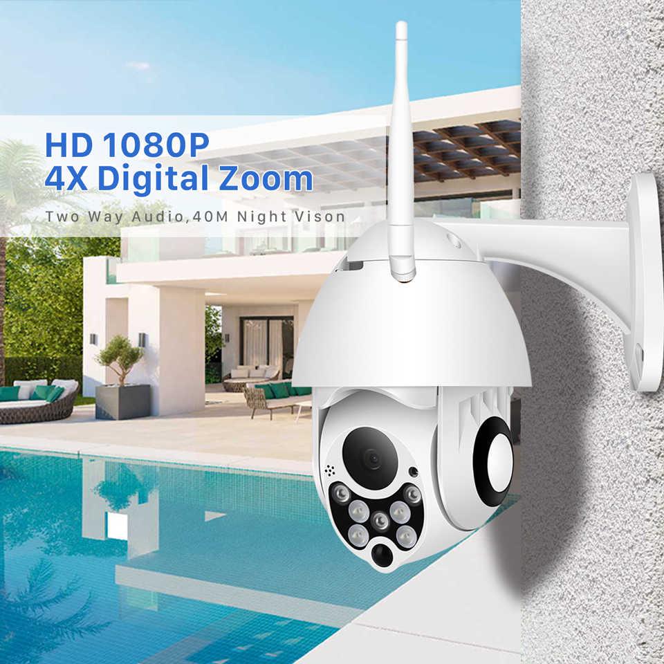 BESDER 4X цифровой зум 1080P Wifi PTZ скоростная купольная камера наружная IP66 Водонепроницаемая беспроводная домашняя камера видеонаблюдения