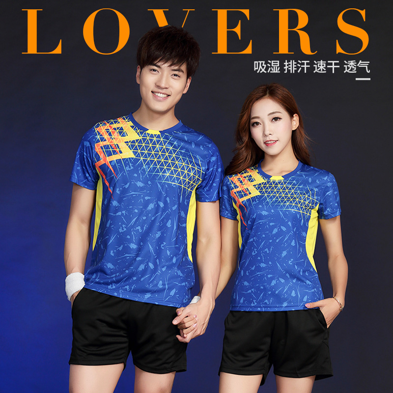 Badminton shirt Men/Women Table Tennis T shirts , sports Tennis T shirts , ping pong Clothes , Gym Sportswear Quick Dry uniforms