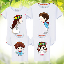 Leimengde Faimly Look T Shirts Lover Boy T-Shirts Family Matching Mother Daughter Clothes 11 Color Wedding Matching Outfits