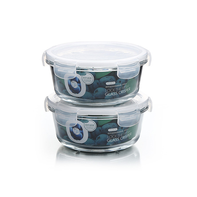Glass Food Storage Containers Meal Prep Containers Lunch Box With Snap Locking  Lids Leak Proof Microwave