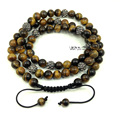 Shamballa Necklace 30 Inches 10mm Tiger Eye Bead with 10mm CZ Crystal Pave Shamballa Beads Adjustable Shamballa Man Necklace