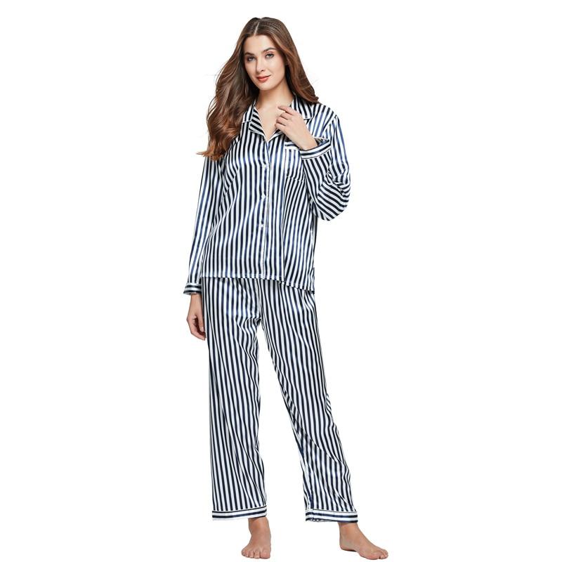 Tony & Candice Dames Zijden Pyjama 2-delige Set Satijn Zijden Pijama - Ondergoed - Foto 5