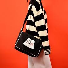 Angelatracy 2019 New Arrival Sunny Doll Japan Style Black Girl Canvas Small Hot Women Shoulder Bag Book Bag Crossbody Bag Flap стоимость