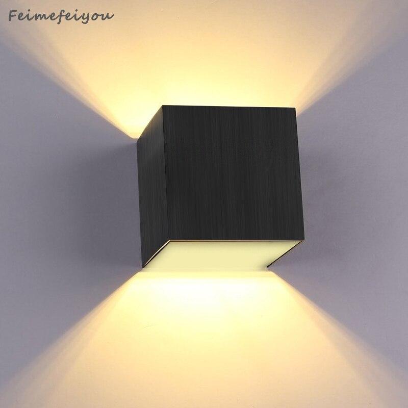 US $6.85 30% di SCONTO 3 W Applique Da Parete retroilluminazione A LED  camera da letto studio albergo capezzale corridoio scale creativo luci del  ...