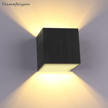3W Wall LED backlight study bedroom bedside hotel hallway stairs creative corridor lights 110-220V Square 240 lumens