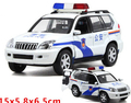 Alloy car model 1pc 15cm Toyota Prado police car children's toy electric light sound gifts
