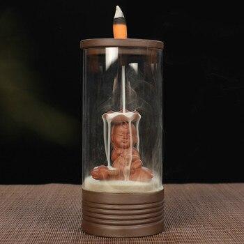 Glass Candle Holder | New Glass Backflow Incense Burner Ceramic Home Decor Desktop Living Room Handcrafts Ornament Sandalwood Cone Cense Holder