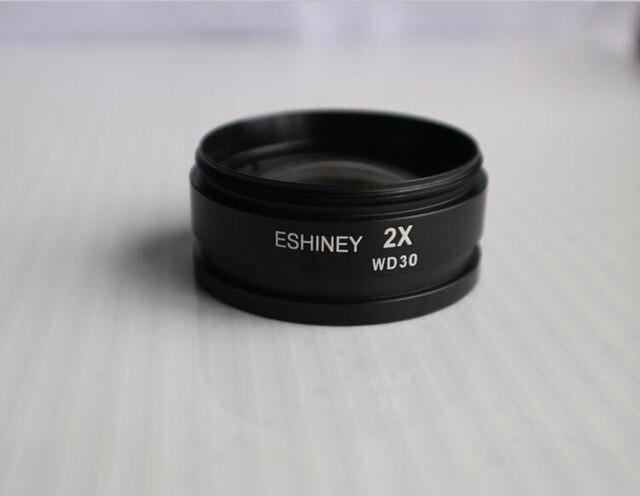 2x barlow mikroskop lampiran tujuan tambahan lensa objektif untuk