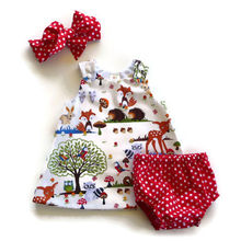 Newborn Toddler Baby Girl Headband+Dress+Shorts Outfits Clothes 0-24M 3pcs sets