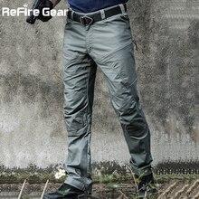 Pantalones de camuflaje tácticos militares para hombre, pantalones de combate del Ejército de la Fuerza Especial, SWAT, impermeables, grandes, multibolsillos, algodón, ReFire Gear