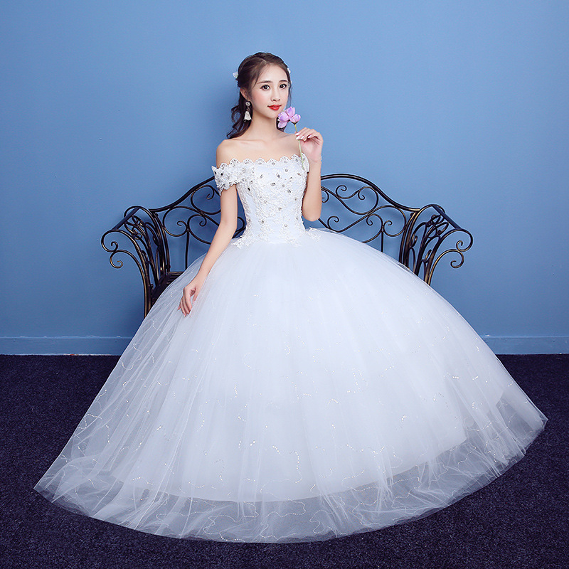 Sweet Memory 2018 boat neck white red wedding gown dresses SW0060 19 ...