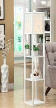 The living room shelf. Sofa set floor lamp