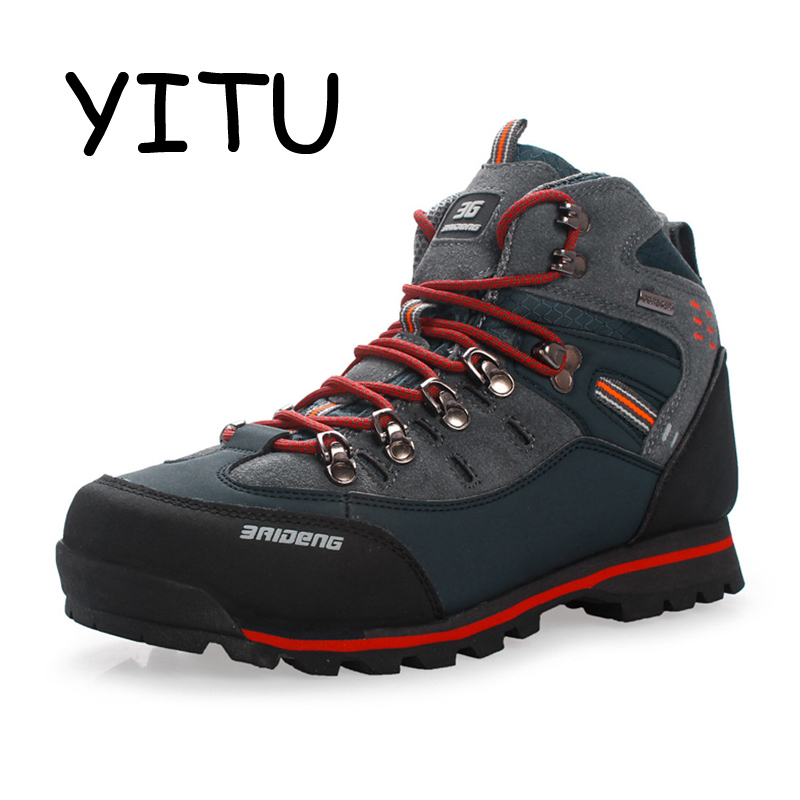 YITU 2018 Summer Hiking Trekking Boots Outdoor Camping Mountain Climbing Shoes Men Waterproof Hiking Sneakers Sport Shoes Brand цена