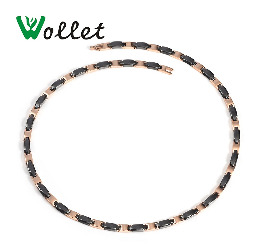 Wollet Jewelry 99 999 Germanium Black Ceramic Necklace Pendant for Women Silver or Rose Gold Color