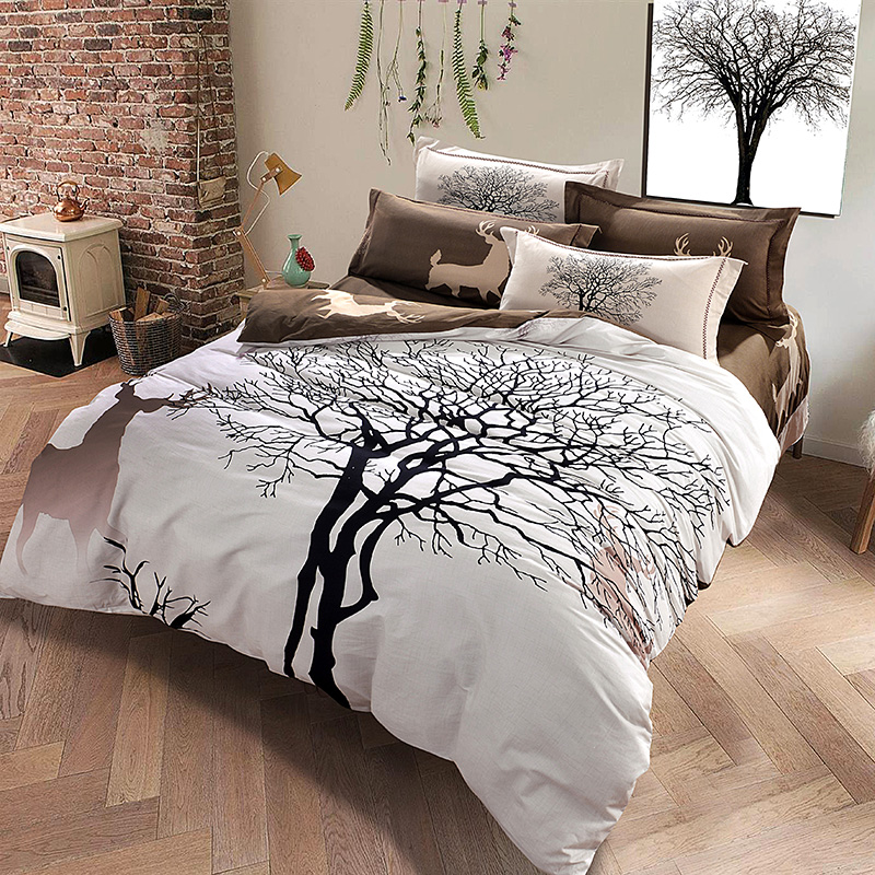 Buy Designer Deer And Tree Bedding Set