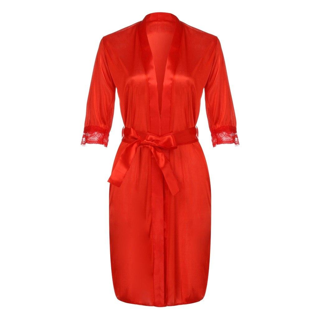 100% QualitäT Klv 2019 Neue Mode Heiße Frauen Damen Sexy Spitze Seide Unterwäsche Dessous Nachtwäsche Nachthemd Robe Kleid Freies Schiff # Z5