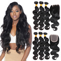 Brazilian Virgin Hair With Closure 8a Rosa Hair Products With Closure Human Hair With Closure Brazilian Body Wave With Closure