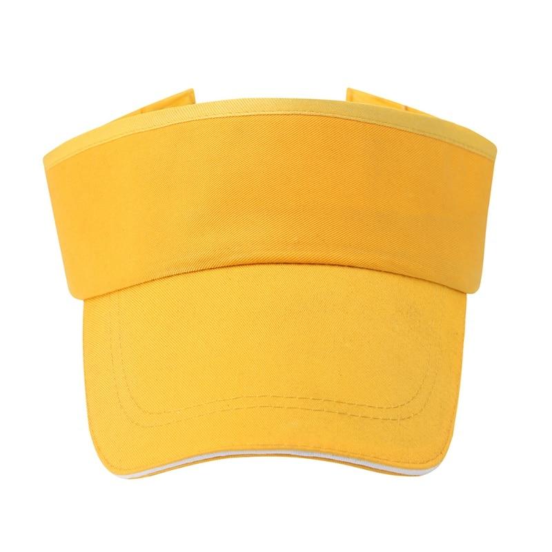 Men Women Empty Top Hat Solid Color Sun Hats Tennis Cap No Top Visor Beach Hat Outdoor Sun Caps