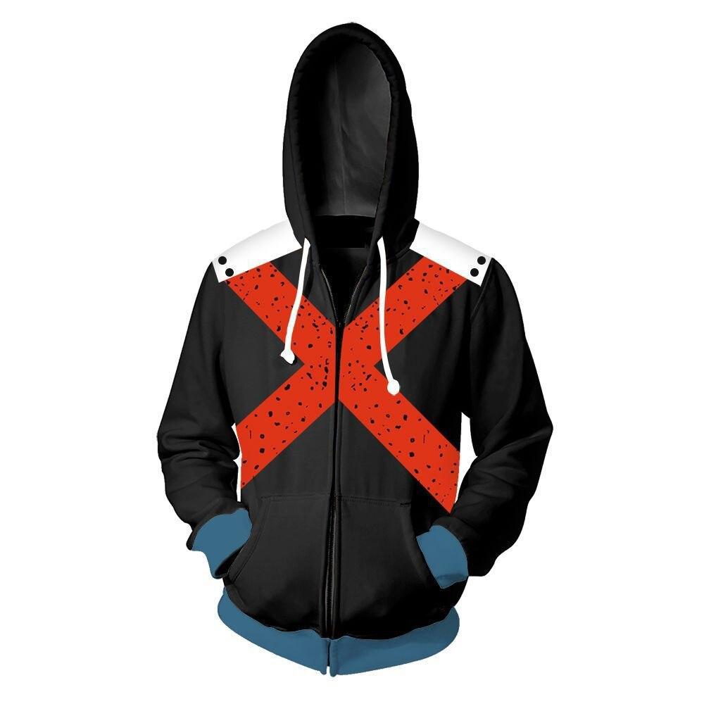 Image 5 - Anime My Hero Academia Cosplay Hoodie Todoroki Shoto Costumes 3D Sweatshirt Jacket School Uniforms Jacket for Spring AutumnHoodies & Sweatshirts   -