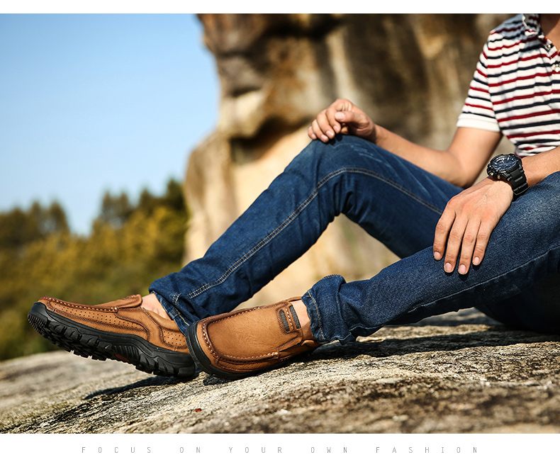 HTB1mZfcPpYqK1RjSZLeq6zXppXaa New High Quality Men's shoes 100% Genuine Leather Casual Shoes Waterproof Work Shoes Cow Leather Loafers Plus Size 38-48