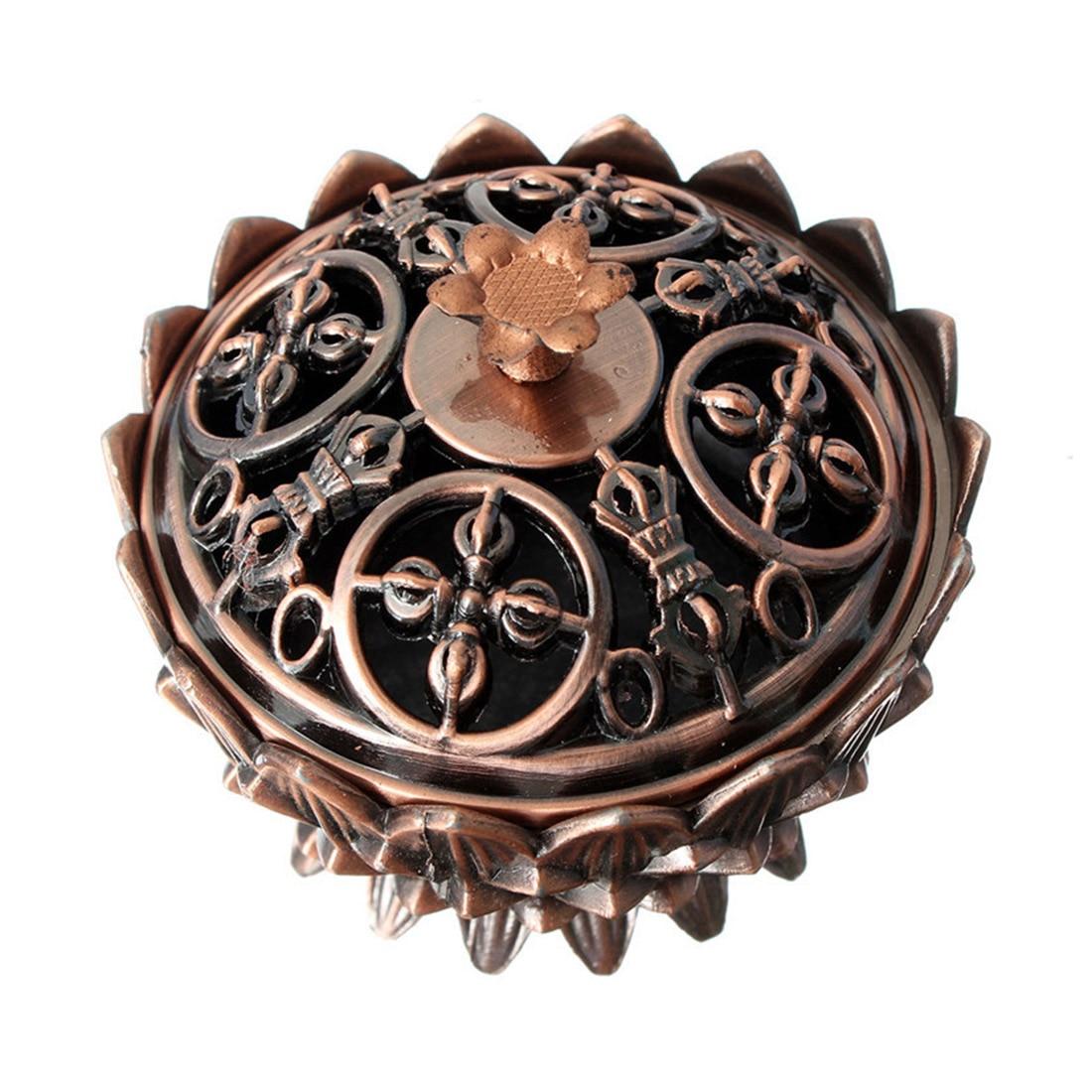 Sacred Lotus Copper Incense Burner 4