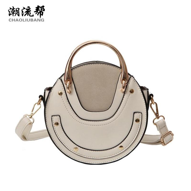 CHAOLIUBANG circular women messenger bag 2017 new shoulder purse patchwork novelty handbags mini crossbody bags for