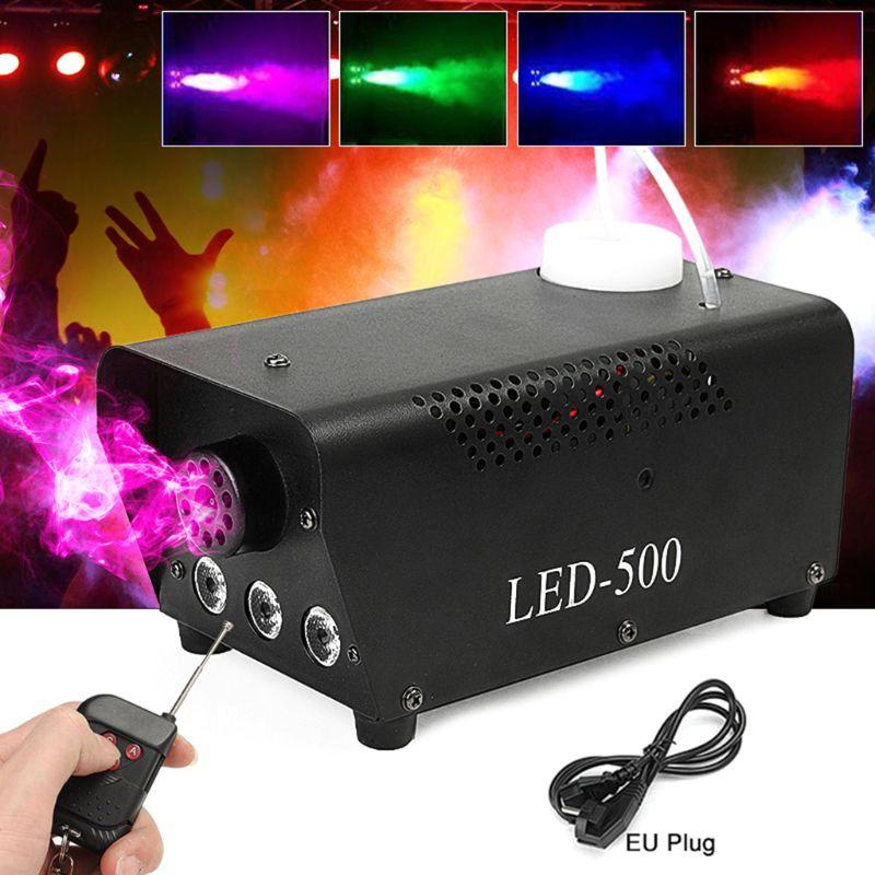 1 Set 500W RGB Color LED Fog Machine Professional Fogger With LED Lights Smoke Ejector