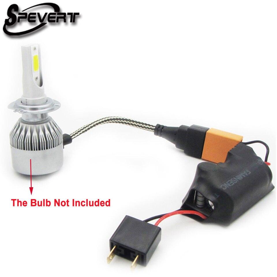 spevert 2pcs h7 h4 led light canbus fault eliminator. Black Bedroom Furniture Sets. Home Design Ideas