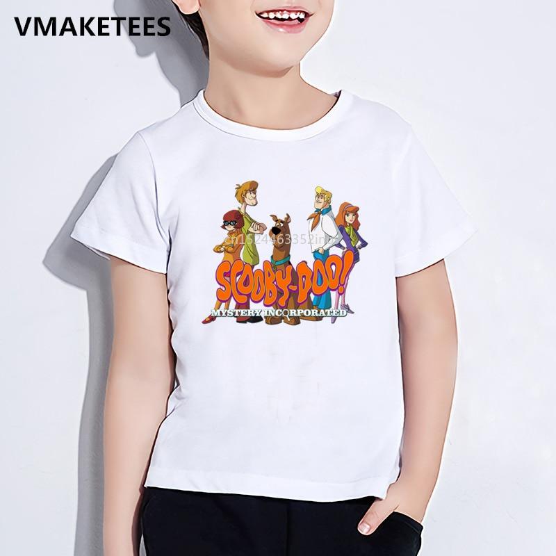 Kinder Sommer Kurzarm Mädchen & Jungen T-shirt Kinder Cartoon Scooby Doo Geheimnis Maschine Druck T-shirt Lustige Baby Kleidung, ooo5085