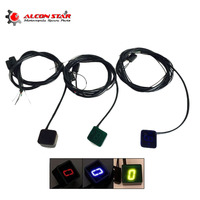 Alconstar 3 Color Digital LED Gear Indicator Motorcycle Gear Display Light Neutral Shift Lever Sensor Motocicleta
