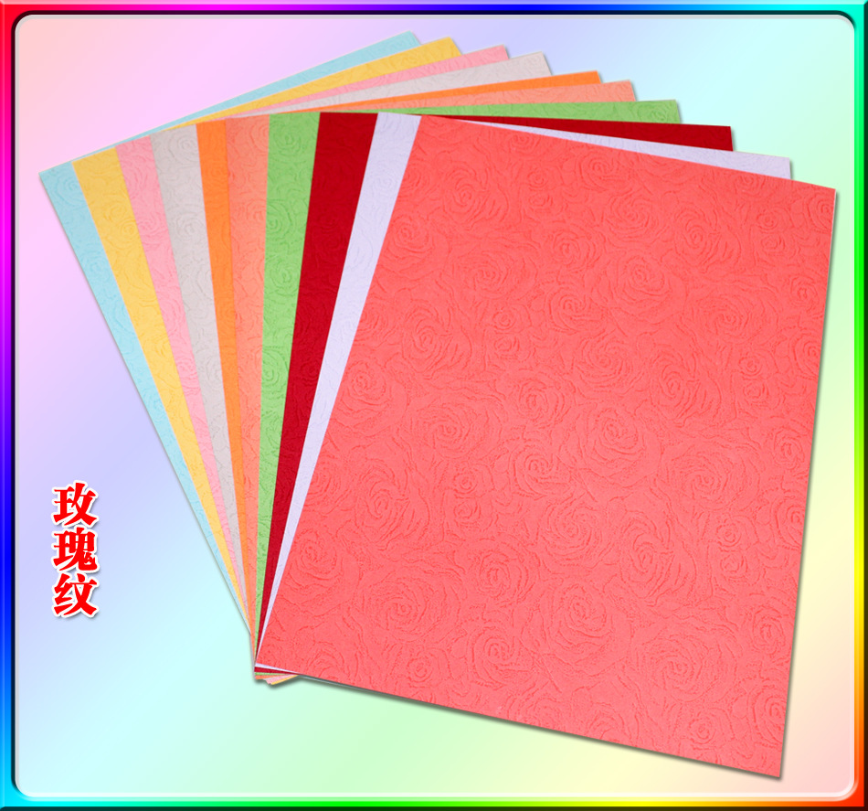 Double sided craft paper - 10pc Lot Rose Grain A4 Paper Double Sided Coloured Craft Diy Colorful Scrapbooking New 10cm