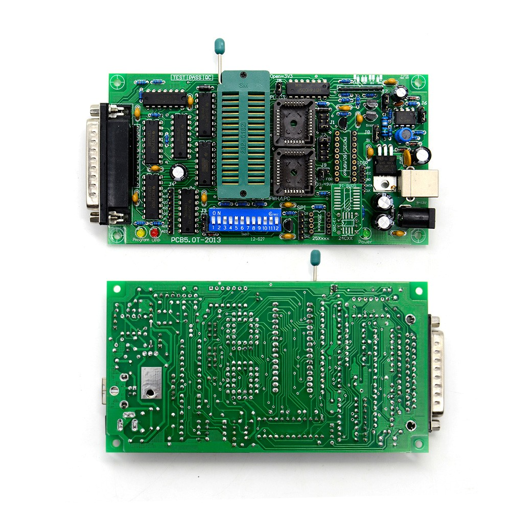 2017 SPI25xx PCB5 0T-2013 EPROM programmer, BIOS009 PIC,support  0 98d12,promotion clip PLCC32+SOIC 8 pin adapter
