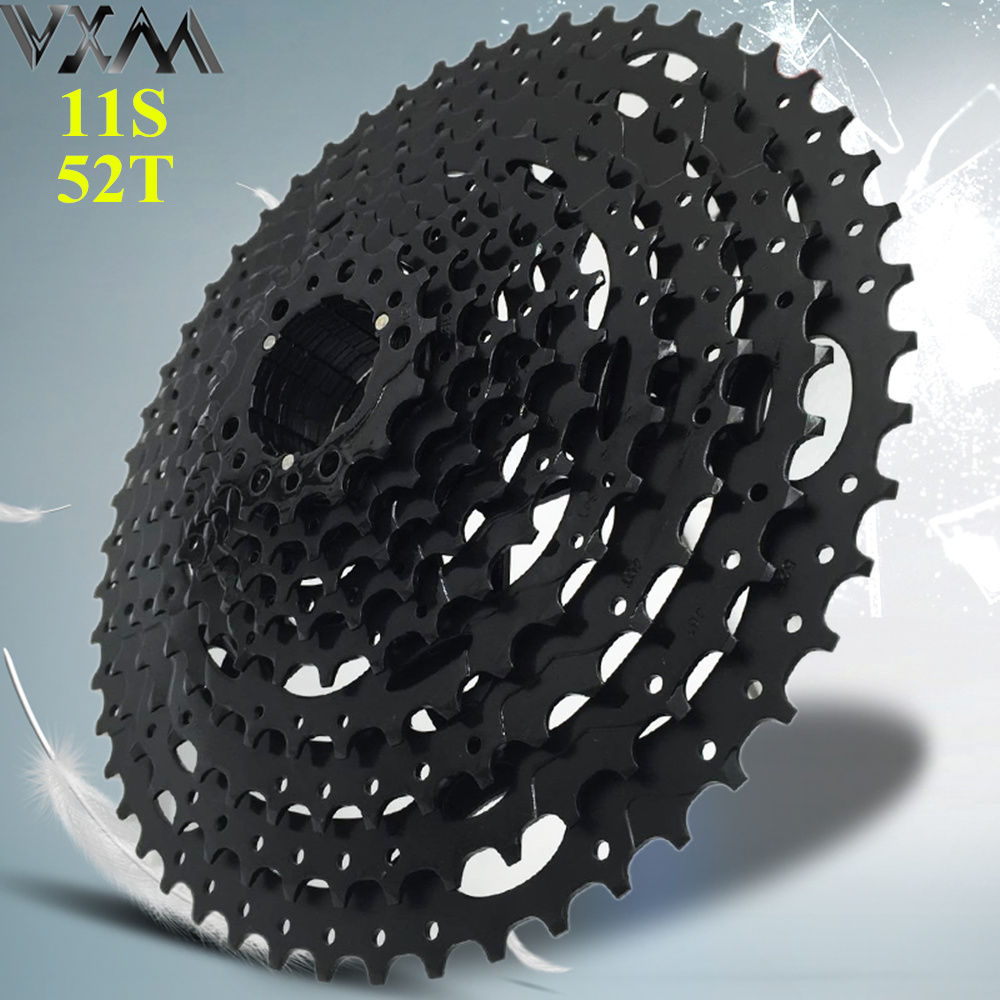 VXM Bicycle Freewheel 11 Speed 11T-52T Cassete MTB Bike Freewheel 11-52T Alloy Wide Ratio 11s Bicycle Flywheel Bicycle Parts west biking bike chain wheel 39 53t bicycle crank 170 175mm fit speed 9 mtb road bike cycling bicycle crank