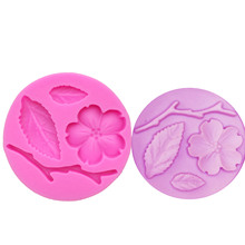 M942 Flower Plum blossom 3D Cake Border Silicone Mold Fondant Decorating Tools Gumpaste Chocolate tools