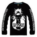 Hollywood undead banda de hard rock/hip hop alternative/screamo nova t-shirt longo da luva dos homens