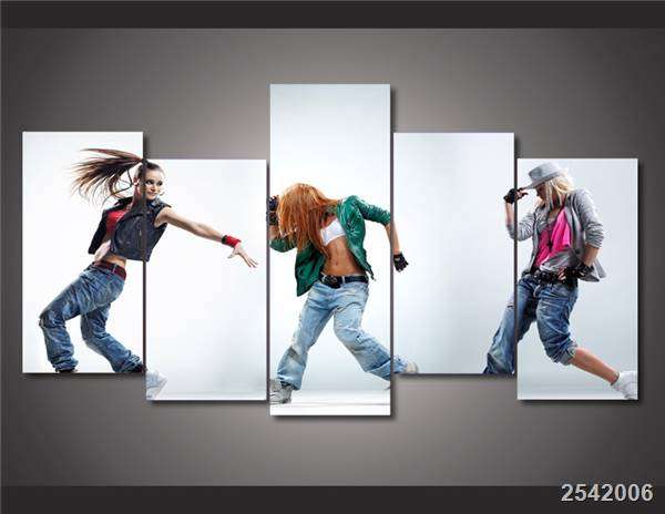 Hd Printed Dance Dancing Dancer Hip Hop Painting On Canvas Room Decoration Print Poster Picture Free Shipping/Ny-2203 Christmas