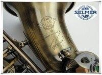 Hot Free Top Musical Instruments Selmer STS R54E Flat Alto Professional Henri Bronze Saxophone