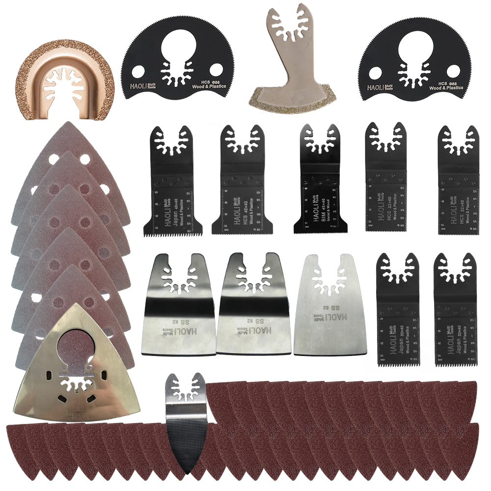 100pc oscillating tool saw blade accessories for multifunction electric tool as Fein power tool etc,wood metal cutting,home DIY 24pc oscillating tool saw blade fit for multifunction power tool as black