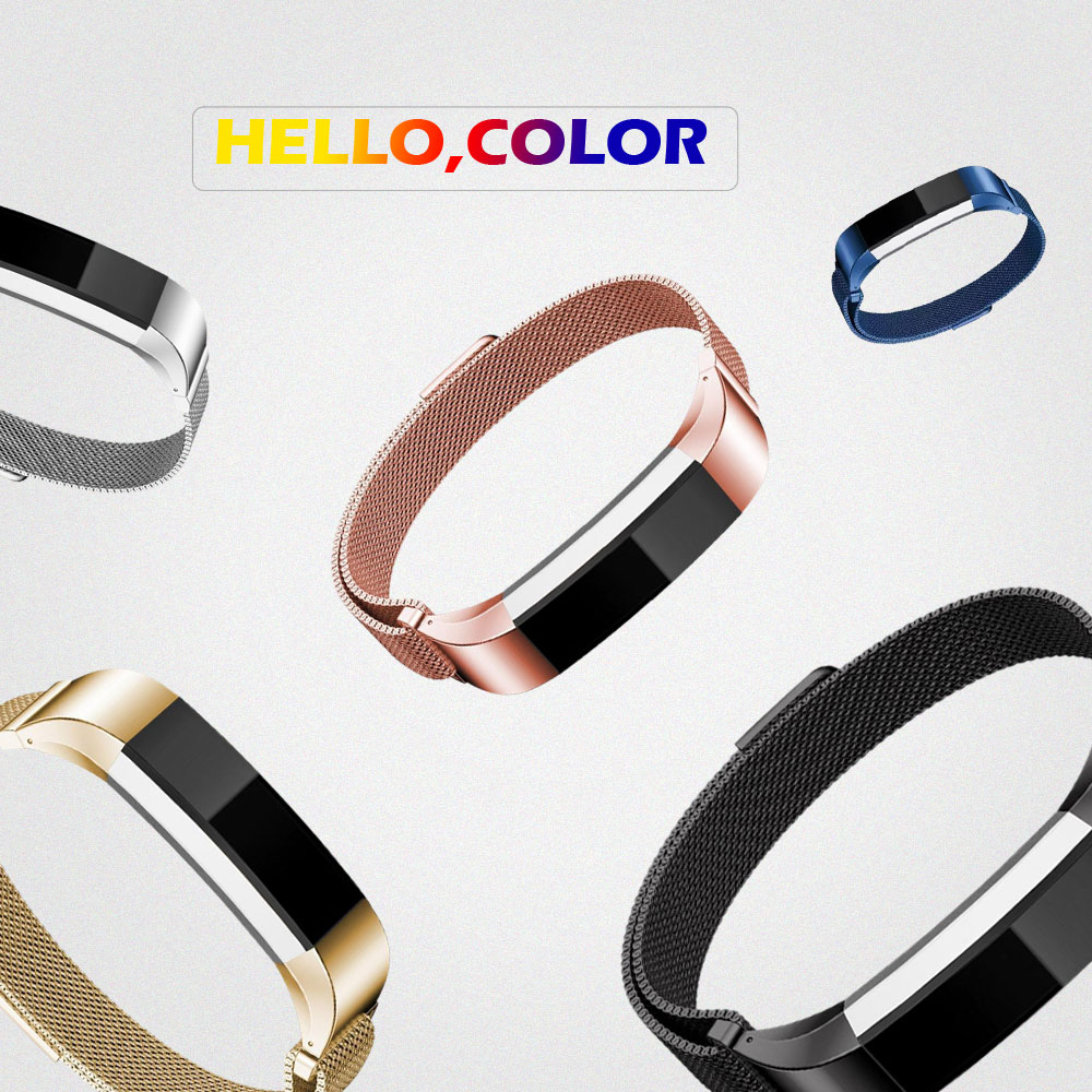 Smart Accessories Metal Wrist Strap Bracelet Magnetic Buckle Replacement Watchband For Original Fitbit Alta Hr Wristbands In From Accessory Consumer