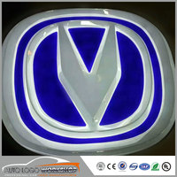 PMMA Vacuum Forming Backlit Luminous Car Logo Signs