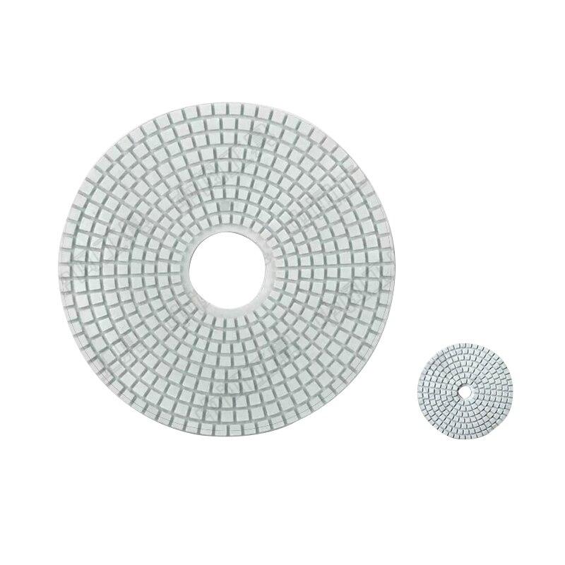 Feuille de polissage moulin eau marbre sol en béton sur grand Film pierre ciment mélangé remettre à neuf poli lame moulin 350mm