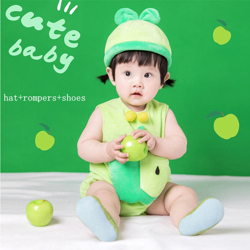 Halloween Christmas cosplay costume baby party costume suit photograph dress pineapple cartoon fruit costume for kids