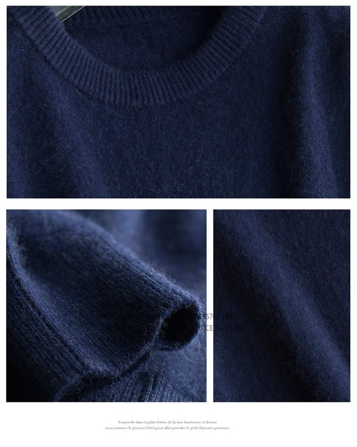 Sales Promotion Winter New Brand Men's High O Neck 100 Mink Cashmere Sweater Half Turtleneck Pullover man christmas masculina 40