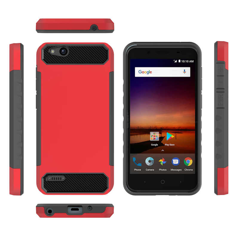 For ZTE Tempo X N9137 / Blade Vantage Z839 / Avid 4 Z855 Cover Case Hard PC  + TPU carbon Silicone fiber luxury dust-proof Case