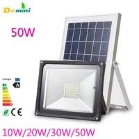 Outdoor Security Solar Floodlight Lamps 54LED Solar Powered Spotlight 30W50W Waterproof LED Flood Solar Panel For