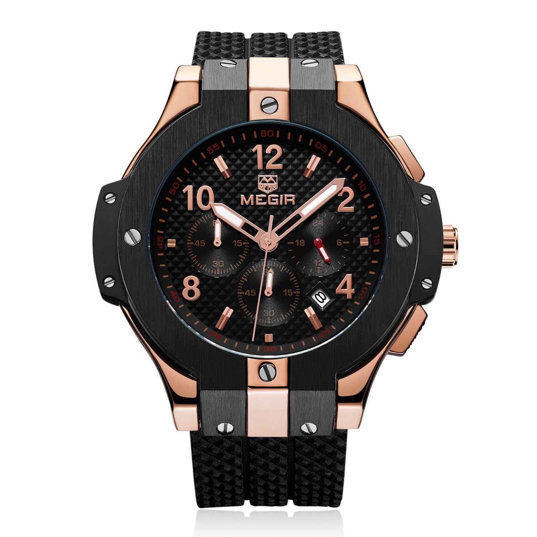 Megir New Design Waterproof Wristwatch Sport Watch Male Top Brand Luxury Decoration Men Automatic Smart Watch цена и фото